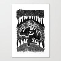 teeth Canvas Prints featuring Teeth by Khodr Saad