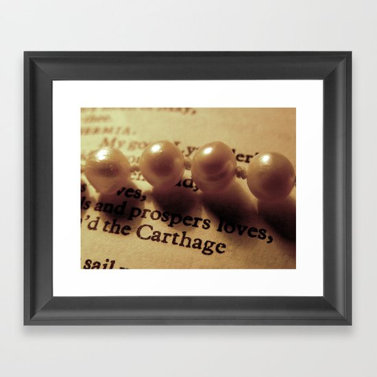 Words number 1 Framed Art Print