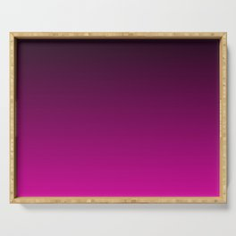Black and Magenta Gradient Serving Tray