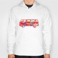 vw Hoodies featuring VW Van  by Stacia Elizabeth