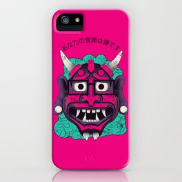 Hipster Demon iPhone Case