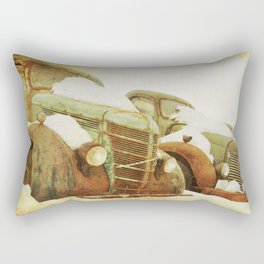 green vintage trucks Rectangular Pillow