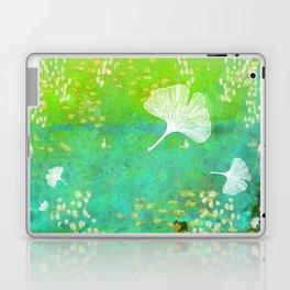 Green Ginkgo Tile Laptop & iPad Skin