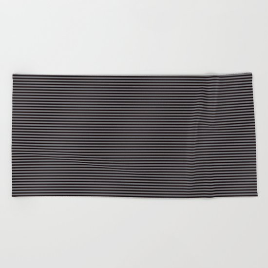 Soft Parisian Stripes Beach Towel