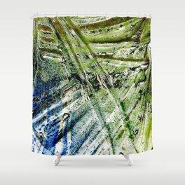 Molten Glass Shower Curtain