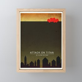 Attack on Titan Minimal Poster Framed Mini Art Print