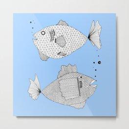 fish bed Metal Print