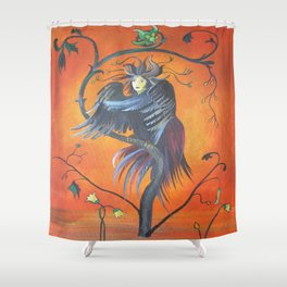 Gamaun The Prophetic Bird With Ruffled Feathers Shower Curtain