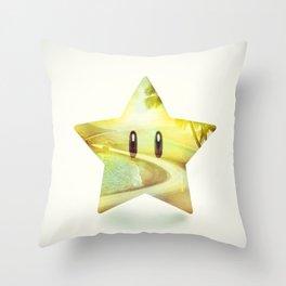 Super Star - Kart Art Throw Pillow