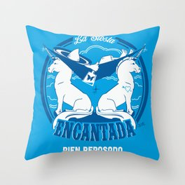 La Siesta Encantada, Bien Reposado • The Best Tequila TShirt! Throw Pillow