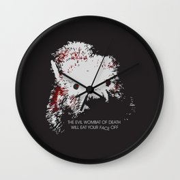 Evil Wombat of Death Wall Clock
