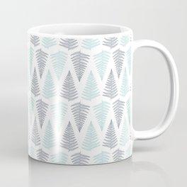 Baby Blue and Gray Ferns Coffee Mug