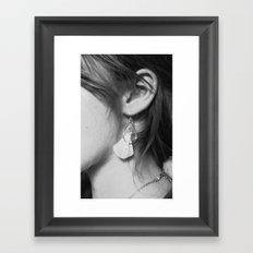 Black/White: Earrings Framed Art Print