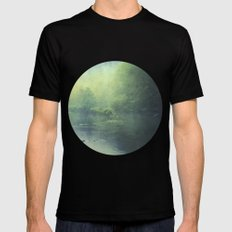 mystic haze Mens Fitted Tee Black SMALL