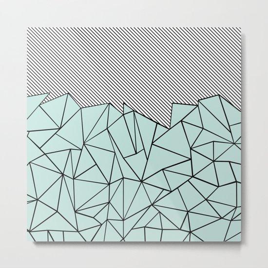 Ab Lines 45 Mint Metal Print