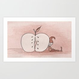 Brownie-Elf & Apple Art Print