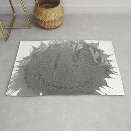 Spooky Sunflower Face Rug