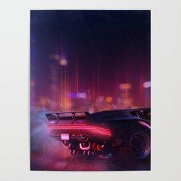 Cyberpunk - The night city Lights Poster