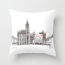 Librairie Moliere, Charleroi Throw Pillow