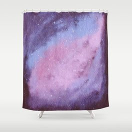 Lovely Galaxy Watercolor 15 Shower Curtain