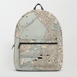 Vintage Map of Boston MA (1893) Backpack