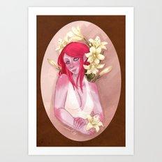 Tasmit & Lilies Art Print