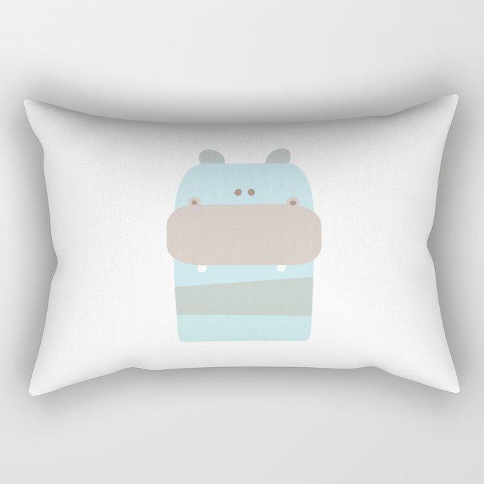 Baby Hippopotamus Rectangular Pillow