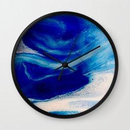 Blue Inlet Wall Clock