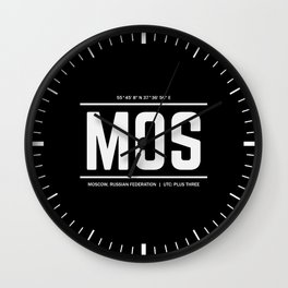 Moscow Time Wall Clock