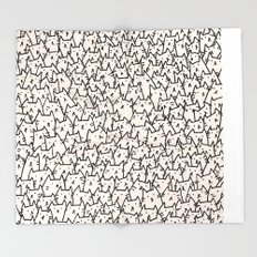 A Lot of Cats Throw Blanket