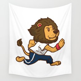Fitness Lion Wall Tapestry