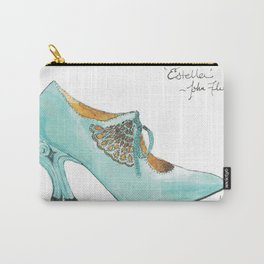 Ode to John Fluevog's Estella - Watecolor & Ink Carry-All Pouch