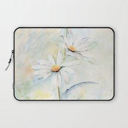 White Daisies Laptop Sleeve
