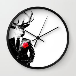 The Usual Stag Wall Clock