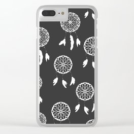 Dreamcatcher Black and White Design Clear iPhone Case