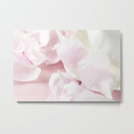 Pink Peony Petals background Metal Print