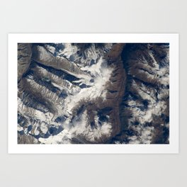 HIMALAYAS from International Space Station Art Print