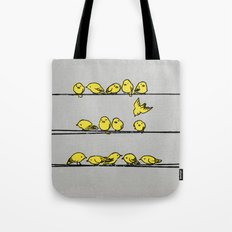 Hanging Out (Yellow Option) Tote Bag