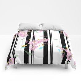 Floral Stripe Comforters