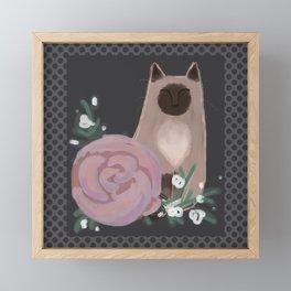 Ragdolls and Roses Framed Mini Art Print