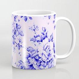 blue earthenware vintage floral Coffee Mug