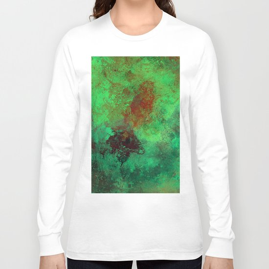 Isolation - Abstract, textured painting Long Sleeve T-shirt