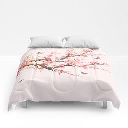 Pink Cherry Blossom Dream Comforters