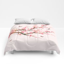 Pink Cherry Blossom Dream Comforters