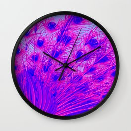 Peacock from behind Wall Clock