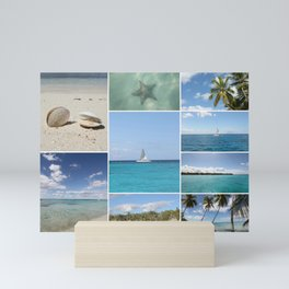 Scenic Caribbean Collage Mini Art Print