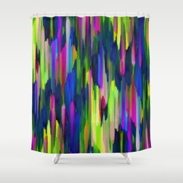 Colorful digital art splashing G256 Shower Curtain