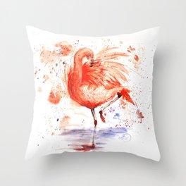 Feathery Friend Throw Pillow