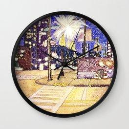 Streetlights by Starlight Wall Clock