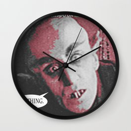 "'Count Orlock, the Vampire #3' from "" Nosferatu vs. Father Pipecock & Sister Funk (2014)"" Wall Clock"